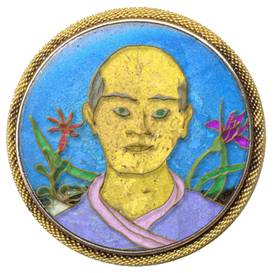 An enamel portrait of Krosamis